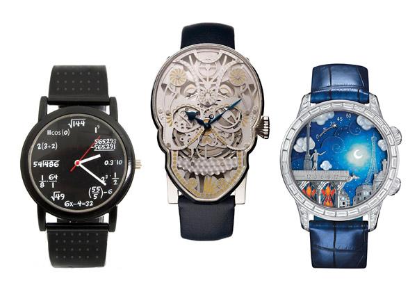 30 самых необычных наручных часов в мире