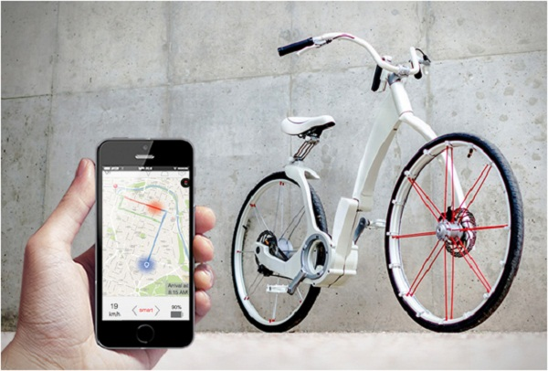 Концепт складного электровелосипеда Gi Bike.