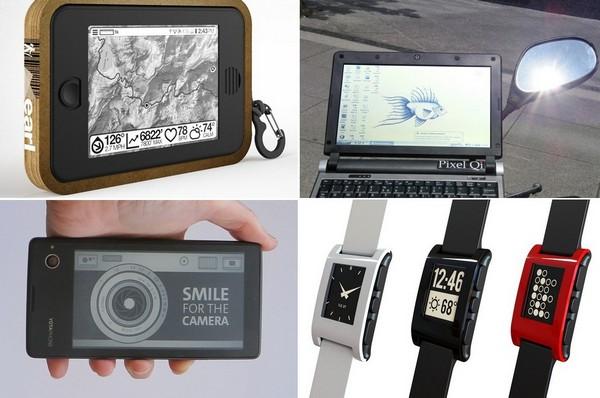 Гаджеты и девайсы на основе технологии электронной бумаги E-Ink
