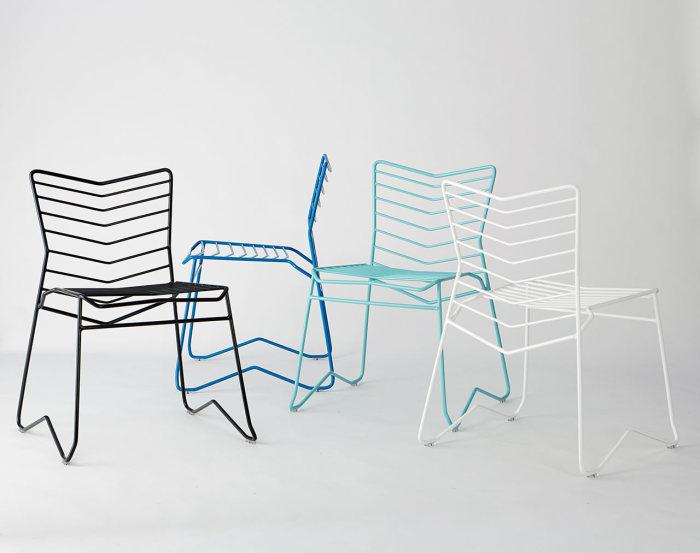 Оригинальные металлические стулья для дома и сада от Даниэля Лау (Daniel Lau).