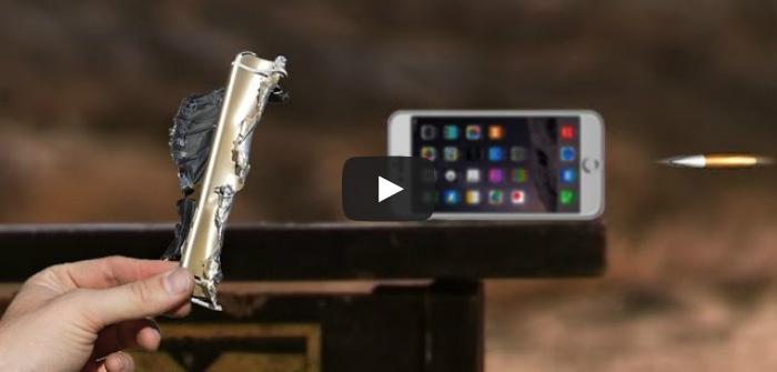 Брутальное видео: что будет, если выстрелить в iPhone 6 пулей 50-го калибра?