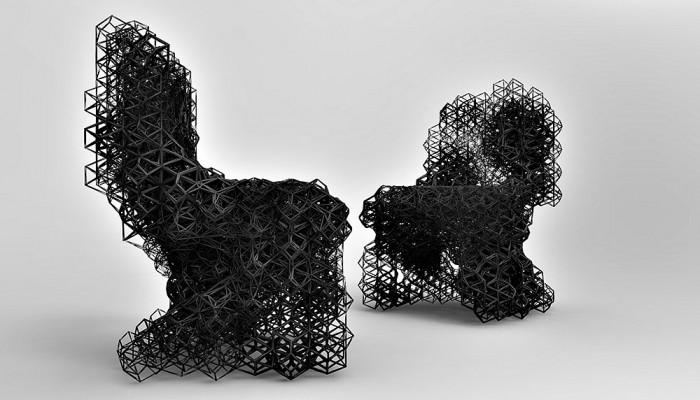 Стильные кресла, созданные с помощью 3D-печати.