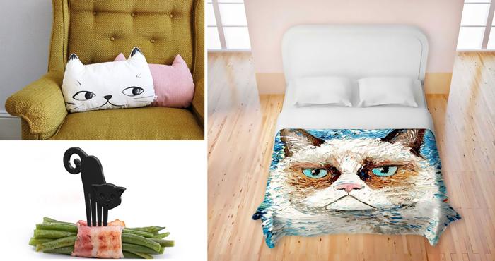 10 аксессуаров с кошками.