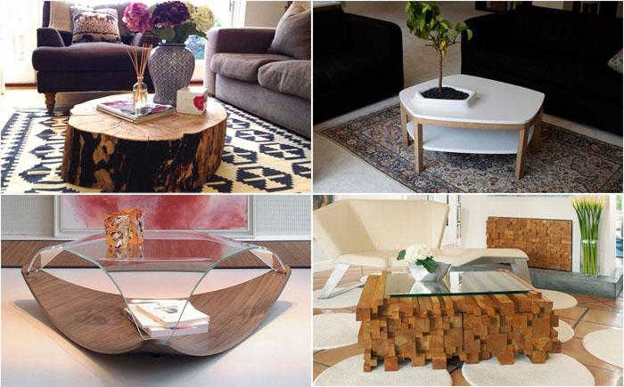 15 уникальных кофейных столиков для стильной гостиной