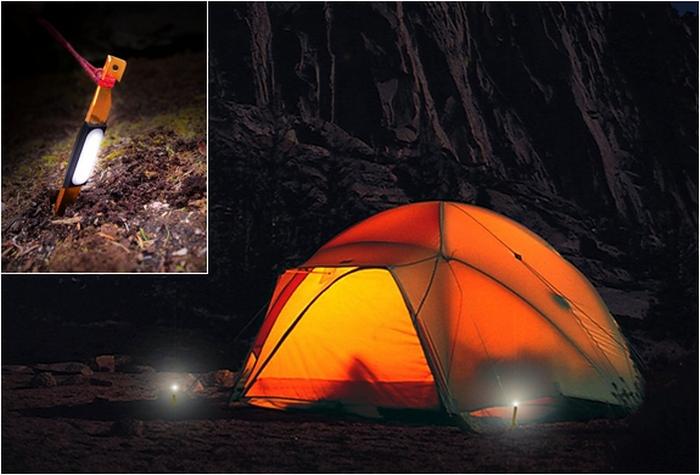 StakeLight – светящиеся колышки для туристической палатки