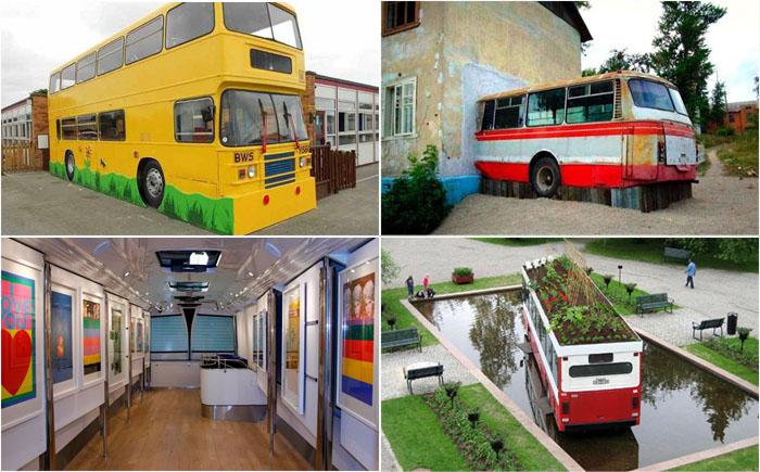 10 потрясающих способов подарить автобусу вторую жизнь