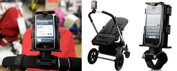 Держатель смартфона для коляски.