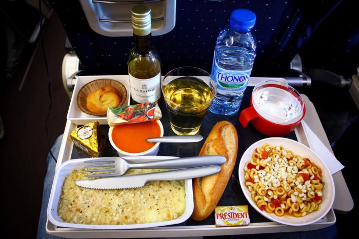 Обед для пилота.