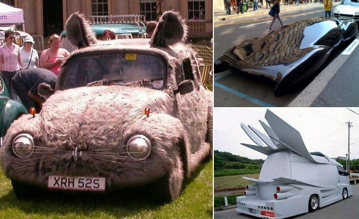 Автомобили с сумасшедшим тюнингом.